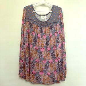 Matilda Jane | size 12 | long sleeve floral shirt